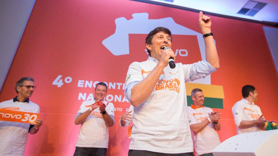 4.ago.2018 - Em2018, João Amoêdo foi o candidato do Novo à Presidência da República  - BRUNO ROCHA/FOTOARENA/FOTOARENA/ESTADÃO CONTEÚDO