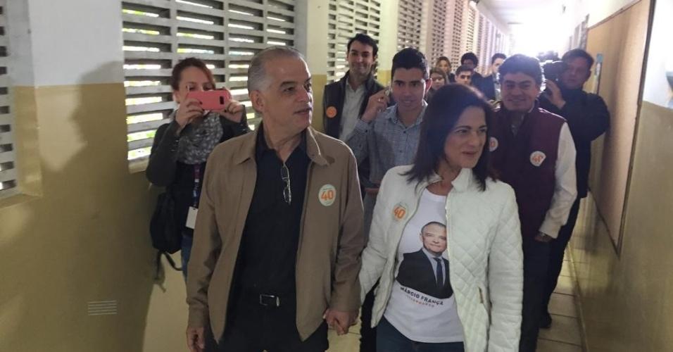 Candidato ao governo de São Paulo, Márcio França vai às urnas