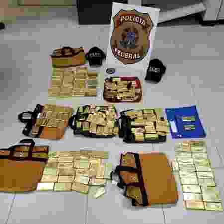 Carga de 111 quilos de ouro foi apreendida pela Polícia Federal em Goiânia - Divulgação/PF