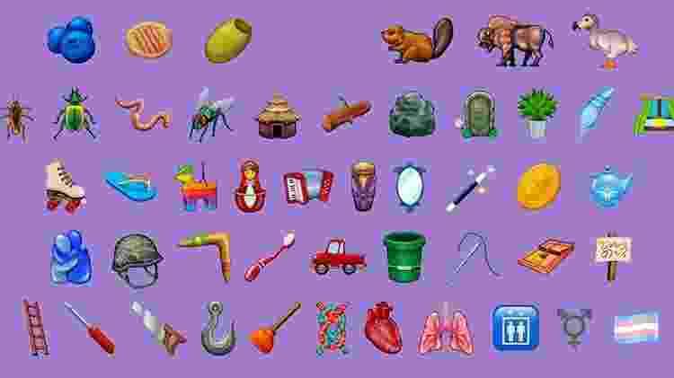 Possíveis novos emojis foram divulgados pela Emojipedia - Reprodução/Emojipedia - Reprodução/Emojipedia
