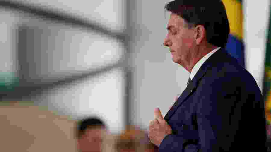 O presidente Jair Bolsonaro (sem partido) no Palácio do Planalto, sede do Executivo, em Brasília - Reuters