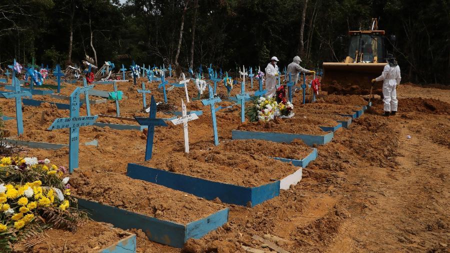 Brasil superou a marca de 227 mil mortes causadas pela covid-19 desde o início da pandemia - Edmar Barros/Futura Press/Estadão Conteúdo