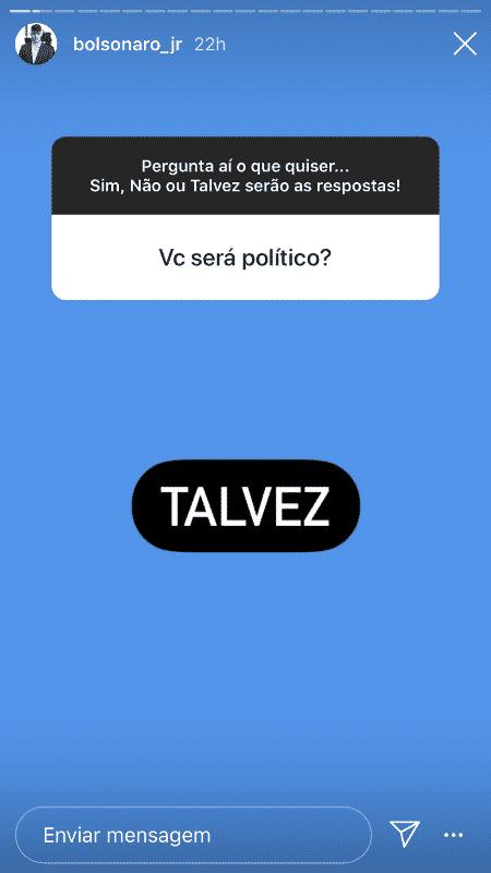 Jair Renan Bolsonaro não descarta ingressar na política - Reprodução/Instagram - Reprodução/Instagram