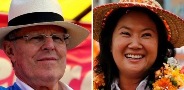 O ex-ministro da Economia Pedro Paulo Kuczynski e Keiko Fujimori, filha do ex-presidente (hoje preso) Alberto Fujimori