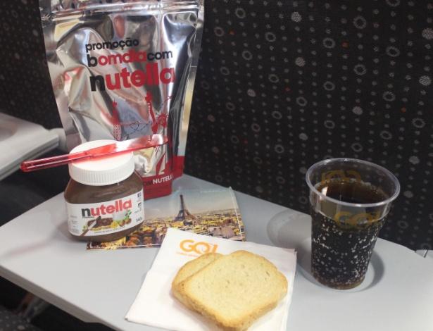 Kit promocional de café da manhã servido em voos da Gol - Divulgação