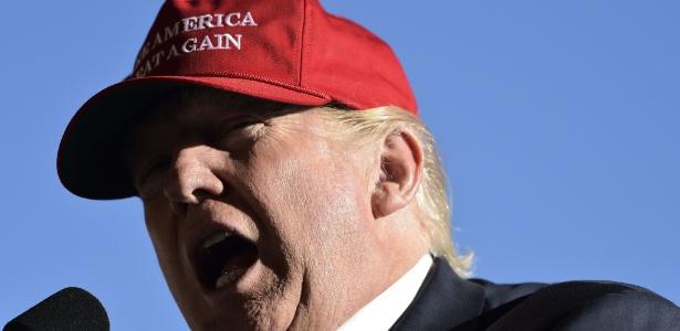 Donald Trump participa de comício durante a campanha eleitoral de 2016