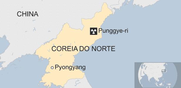 21.abr.2017 - Punggye-ri na Coreia do Norte - BBC - BBC