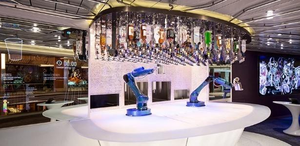 Imagem conceitual mostra como deverá ser o bar do navio Symphony of the Seas