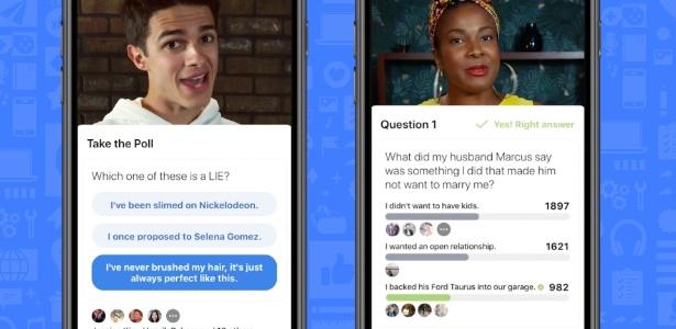 20.jun.2018 - Facebook oferece jogos interativos em plataforma de vídeo - Divulgação/Facebook