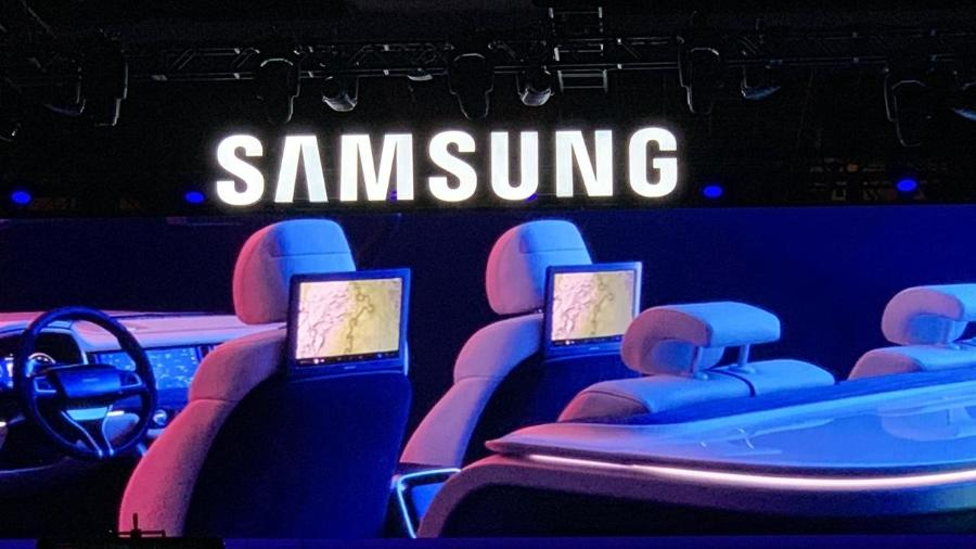 Samsung apresentou novo sistema inteligente para carros durante a CES 2019 - Bruna Souza Cruz/UOL