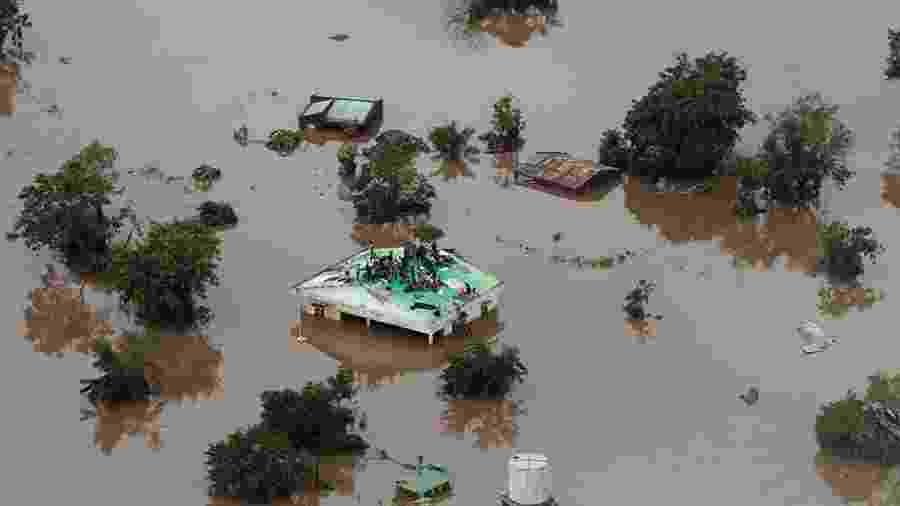 O ciclone Idai já deixou mais de 200 mortos em Moçambique - Rick Emenaket/Mission Aviation Fellowship/AFP