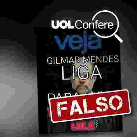 """Montagem simula capa da revista """"Veja"""". - Arte/UOL"""