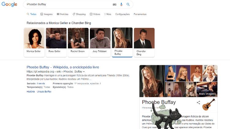phoebe buffay - reprodução/Google - reprodução/Google