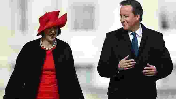O Brexit acabou com a vida política dos primeiros ministros David Cameron e sua sucessora Theresa May - Getty Images - Getty Images
