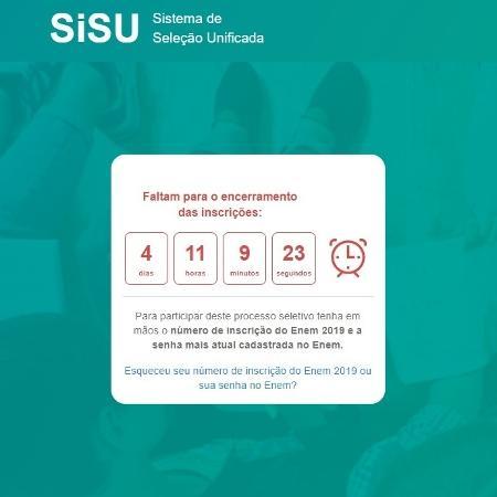 Página inicial do Sisu 2020 - Reprodução