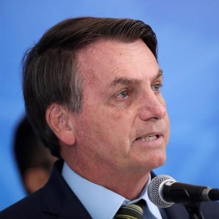 Presidente Jair Bolsonaro no Palácio do Planalto - UESLEI MARCELINO