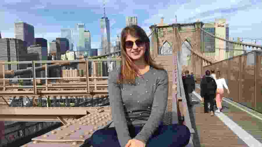 Simone morou por um ano e um mês em Center Moriches, nos Estados Unidos - Arquivo pessoal