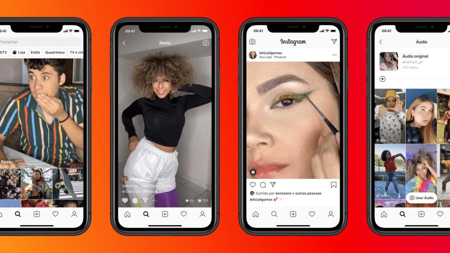 Reels é o novo formato do Instagram, uma evolução do Cenas, que estava sendo testado no Brasil desde novembro de 2019 - Divulgação/Instagram