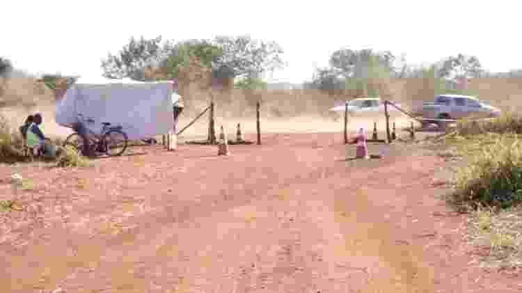 Falta de estrutura e de apoio são frequentes nas barreiras sanitárias de comunidades indígenas do MS -  Foto: Doriano Arce -  Foto: Doriano Arce