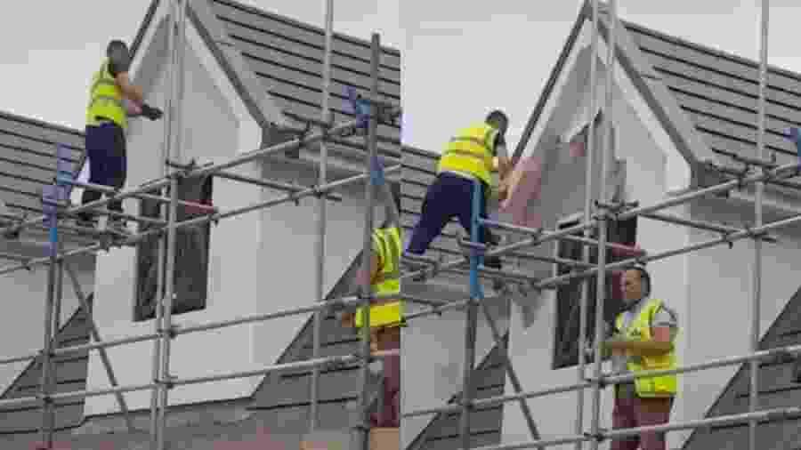 Trabalhador destrói casa após não ser pago por empreitada - Reprodução/TikTok/@fattdann