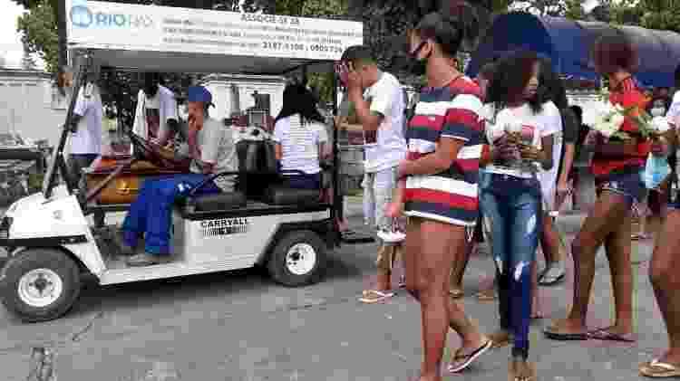 Funeral de Jonathan Araújo da Silva no Cemitério de Inhaúma - Rai Aquino/UOL - Rai Aquino/UOL