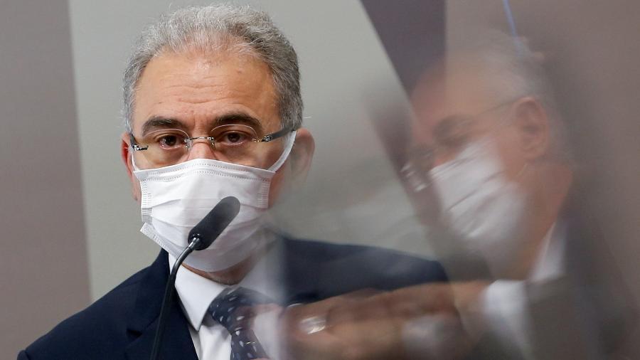 Ministro da Saúde, Marcelo Queiroga, na CPI da Covid - Adriano Machado/Reuters