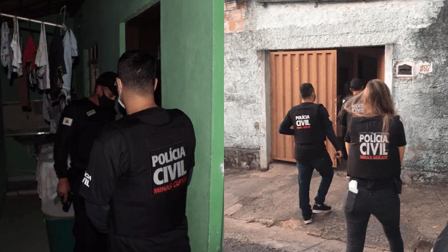 Operação da Polícia Civil prendeu irmãos gêmeos suspeitos de estupro coletivo em BH e um monitor de escola que abusava da filha - Divulgação Policia Civil de Minas Gerais