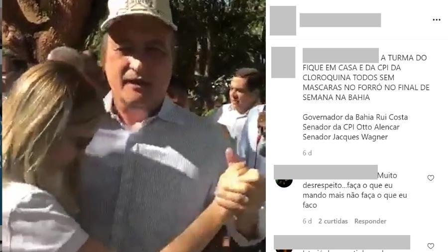 Vídeo do governador da Bahia, Rui Costa (PT), dançando forró é de antes da pandemia de covid-19 - Reprodução/Instagram bolsonaroparana2022