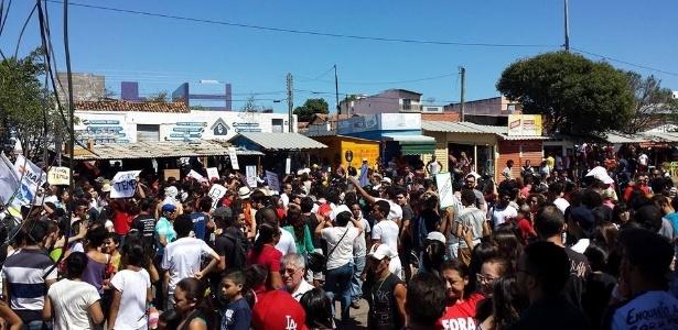 Manifestantes protestam contra Temer na região do Cariri, no Ceará - Divulgação