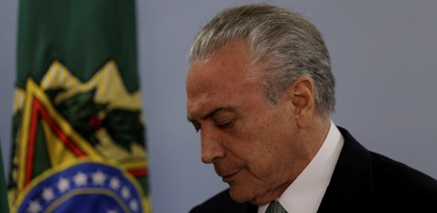 O presidente Michel Temer (PMDB) faz pronunciamento no Palácio do Planalto