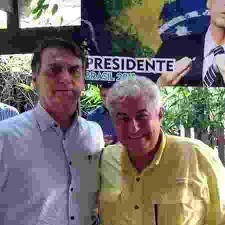 O ex-astronauta Marcos Pontes, futuro ministro da Ciência e Tecnologia, e o presidente eleito Jair Bolsonaro (PSL) - Reprodução