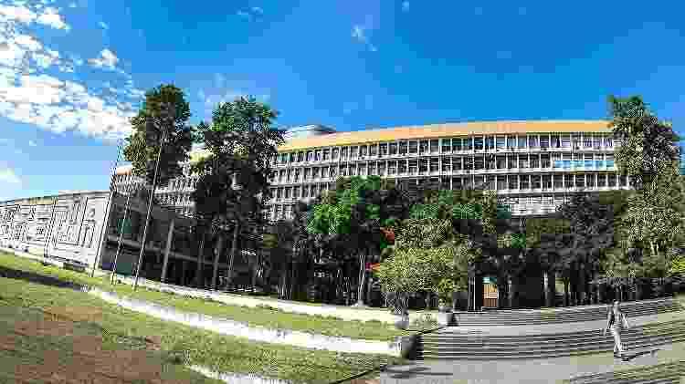 Panorâmica do edifício Jorge Machado Moreira que abriga EBA, FAU, Ippur e Reitoria da UFRJ - Divulgação