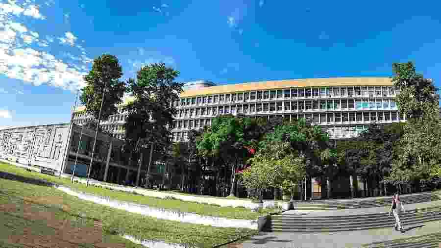 Panorâmica do edifício Jorge Machado Moreira que abriga EBA, FAU, Ippur e a reitoria da Universidade Federal do Rio de Janeiro - Divulgação