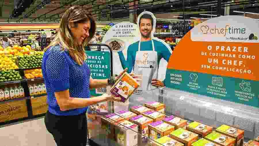 Comunicação da linha Cheftime no ponto de venda foi reformulada depois de observações dos clientes - Divulgação