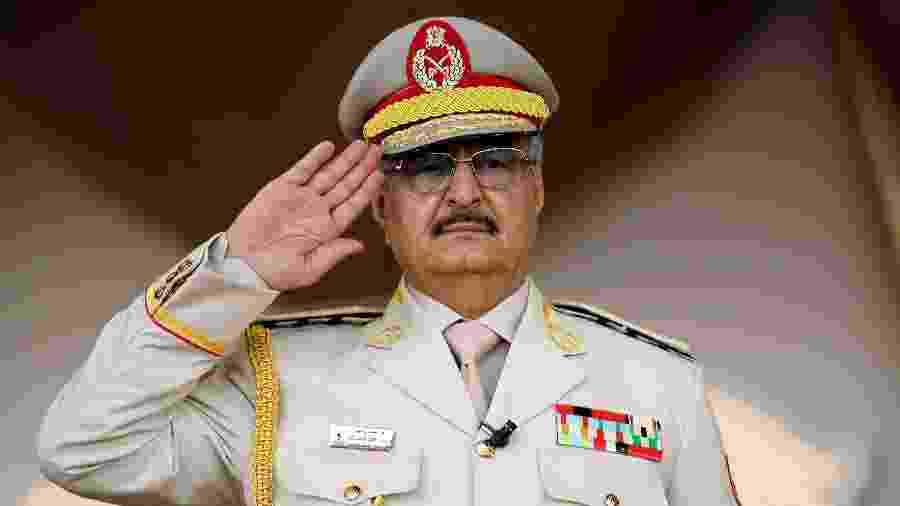 7.mai.18 - Khalifa Haftar, o homem forte da Líbia - Abdullah Doma/AFP