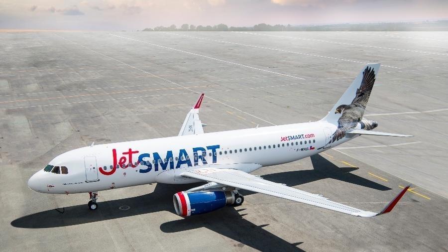 Avião da chilena JetSmart - Divulgação