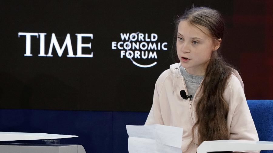 A ativista Greta Thunberg durante Fórum Econômico Mundial em Davos - Denis Balibouse/Reuters