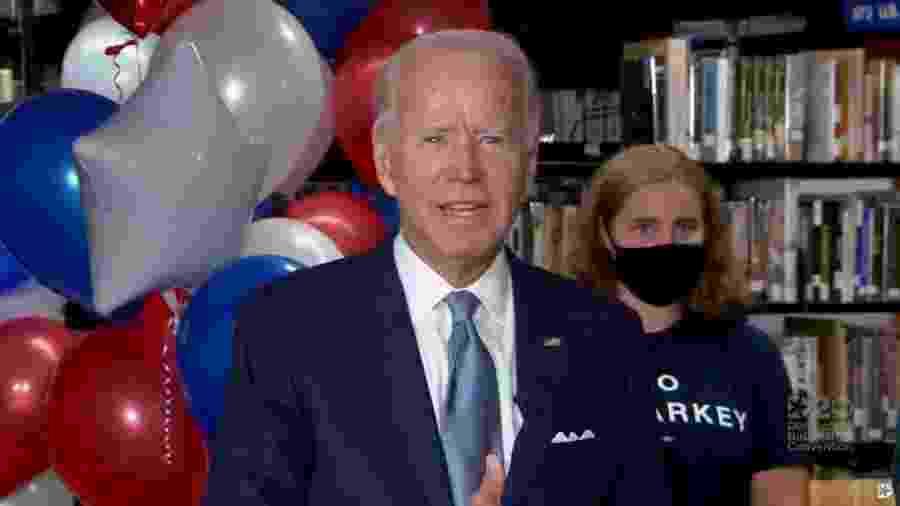 Joe Biden durante Convenção Nacional do Partido Democrata dos Estados Unidos -