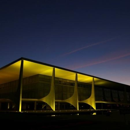 Vista do Palácio do Planalto, em Brasília -
