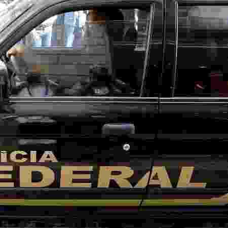 Viatura da Polícia Federal; operação ocorre em São Paulo, Rio de Janeiro e Brasília -