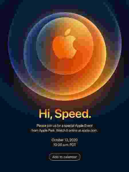 Imagem do convite para evento da Apple enviado para a imprensa - Reprodução