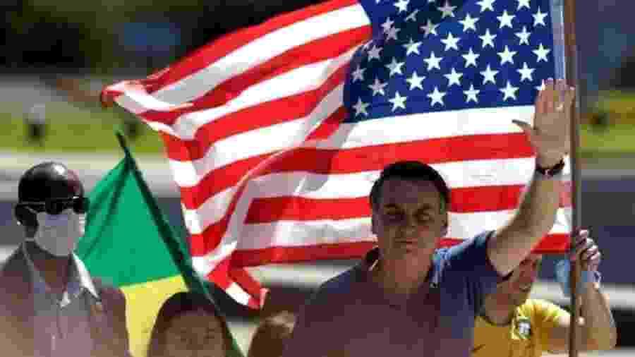 A chegada ao poder de Jair Bolsonaro, em janeiro de 2019, marcou um ponto de inflexão fundamental na política externa do Brasil: pela primeira vez desde a redemocratização, o país escolhia ter como aliado prioritário e preferencial os Estados Unidos - Ueslei Marcelino/Reuters