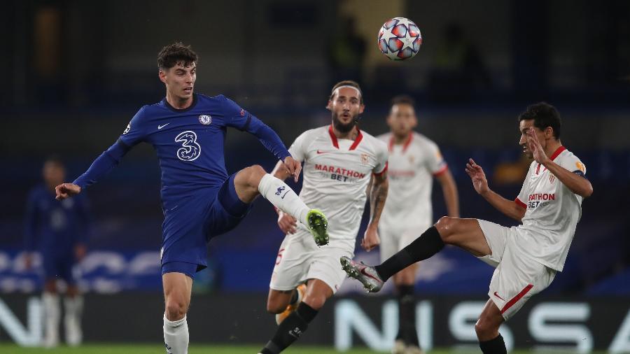 Chelsea e Sevilla empatam por 0 a 0 em Londres pela Liga dos Campeões - Adam Davy/AFP
