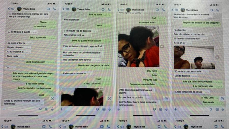 Polícia Civil mostra troca de mensagens de Monique com a babá - Divulgação/Polícia Civil
