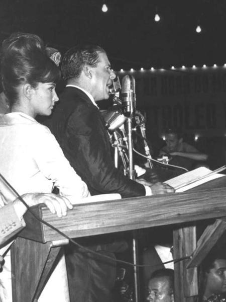 Comício das Reformas de João Goulart, dia 13 de março de 1964, no Rio de Janeiro - Arquivo Nacional