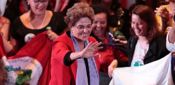 A presidente afastada, Dilma Rousseff, participa do Ato Mulheres com Dilma em Defesa da Democracia, na Casa de Portugal, em São Paulo