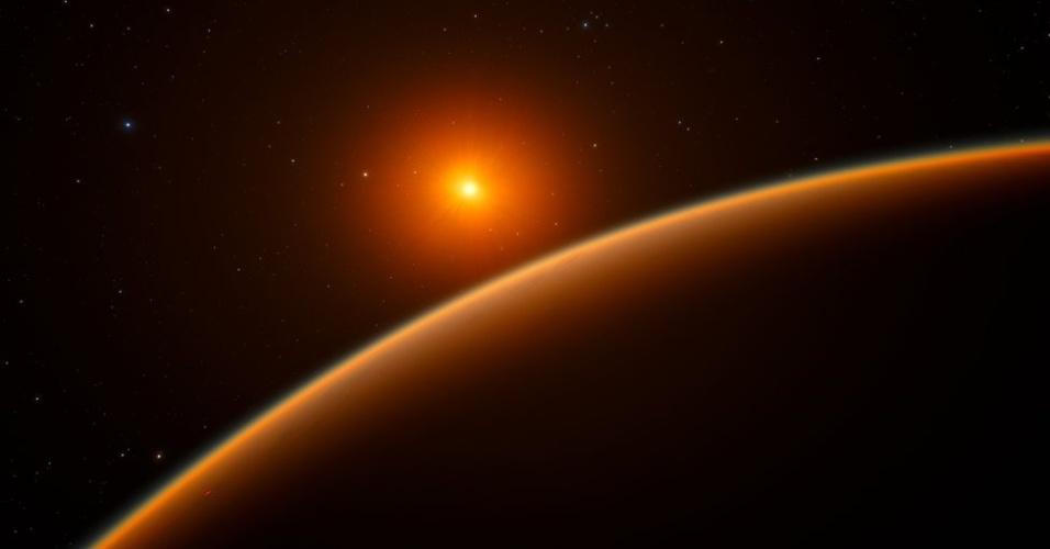 19.abr.2017 - O planeta LHS 1140b, se situa na órbita da estrela anã vermelha LHS 1140