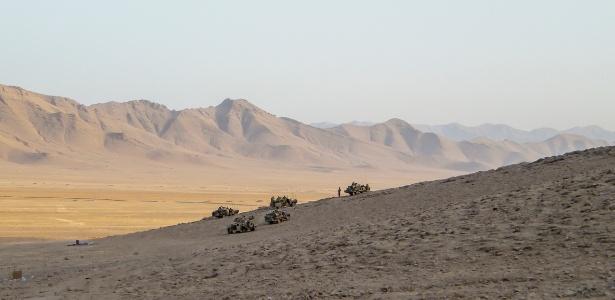 Soldados em missão no Afeganistão