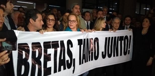 Ato em apoio ao juiz da Lava Jato, Marcelo Bretas
