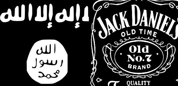 Vizinho confundiu bandeira do Estado Islâmico com a de uma marca de uísque